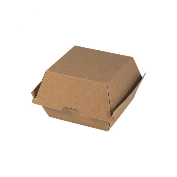 CLAMSHELL CORRUGATED BURGER BOX (CLAM-BBB-PU) - 50PCS/PKT