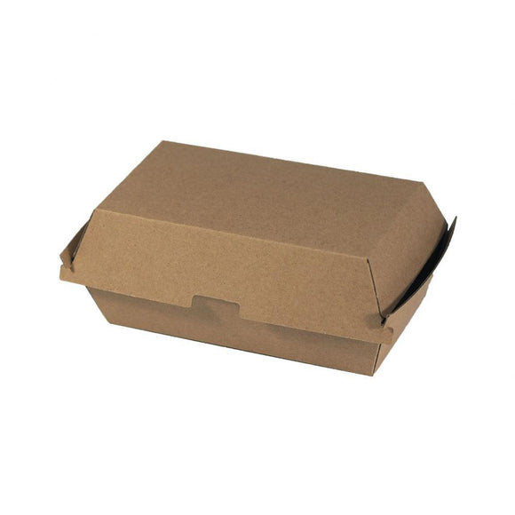 CLAMSHELL CORRUGATED SNACK BOX (CLAM-SBR-PU) - 100PCS/PKT