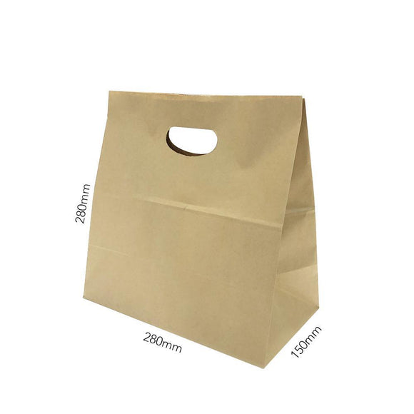 KIDNEY HOLE HANDLE BROWN PAPER BAG (PL-BPBDC1-QL) - 25PCS/BUNDLE