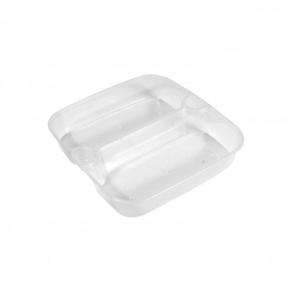 2 COMPARTMENT INSERT FOR 1000ML SQUARE CONTAINER (PCINS-HS02A) - 50PCS/PKT