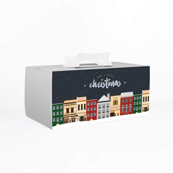 SILENT NIGHT LOGCAKE BOX W/ CAKE BASE (DIL-LCB3-2016) - 10SETS/BUNDLE