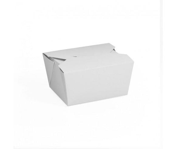 BIO FOOD BOX #1 WHITE (PL-FB1) - 50PCS/PKT