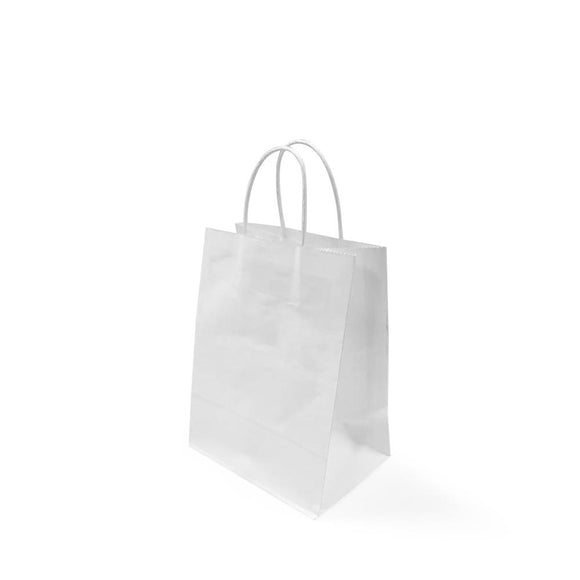 WHITE PAPER BAG 2A (PL-WPB-2A-WZCB) - 25PCS/BUNDLE