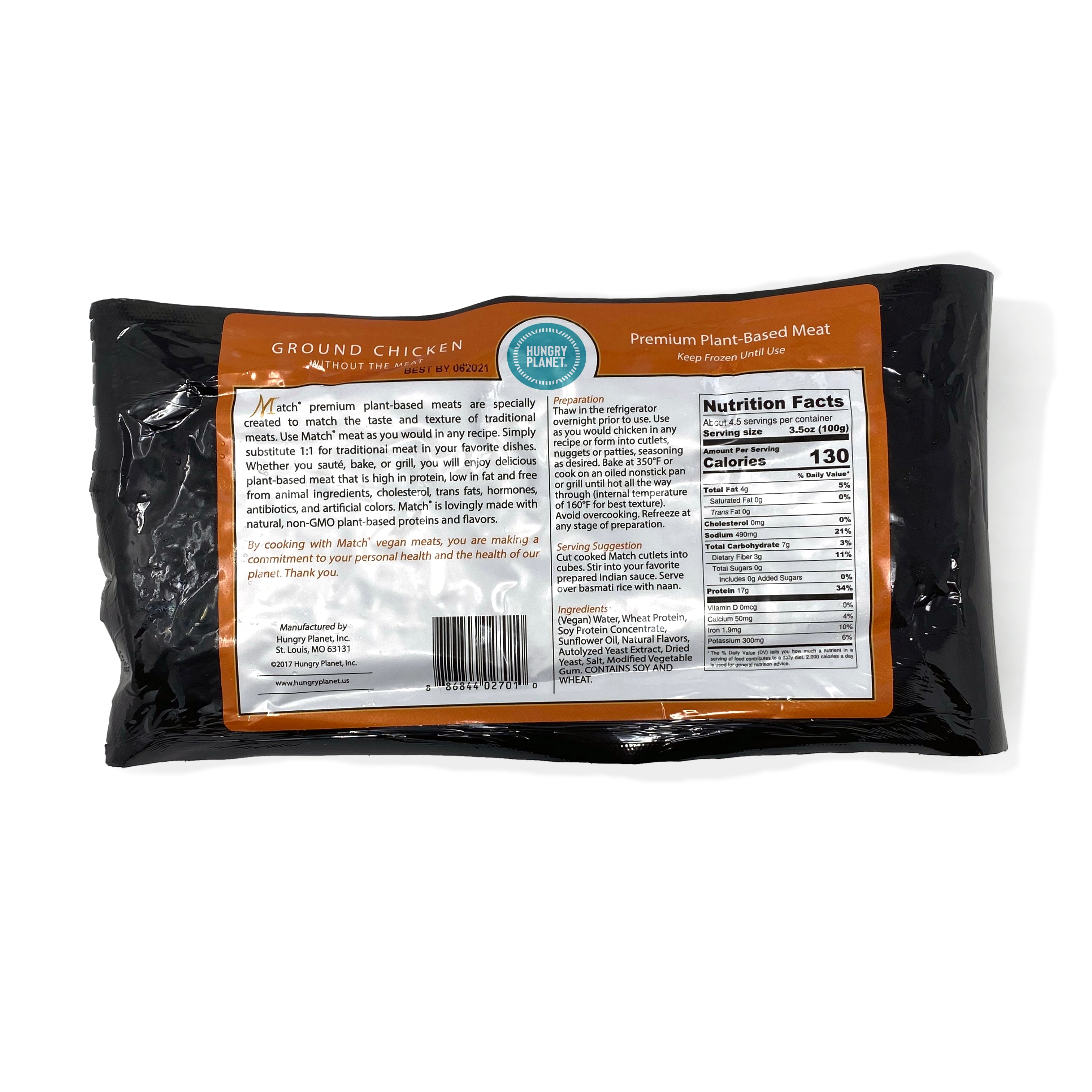 VARIETY PACK - GROUND<span>Hungry Planet Chicken<sup>™</sup> Ground (x2)</span> <span>Hungry Planet Pork<sup>™</sup> Ground (x2)</span><span>100% Plant-Based, 1 lb chubs</span> (Pack of 4 chubs)