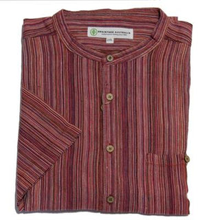 BRAINTREE HEMP MST118K CASUAL SHIRT RED