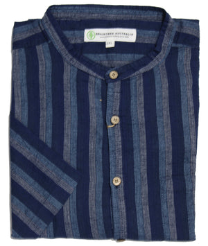 BRAINTREE HEMP MST118K CASUAL SHIRT BLUE