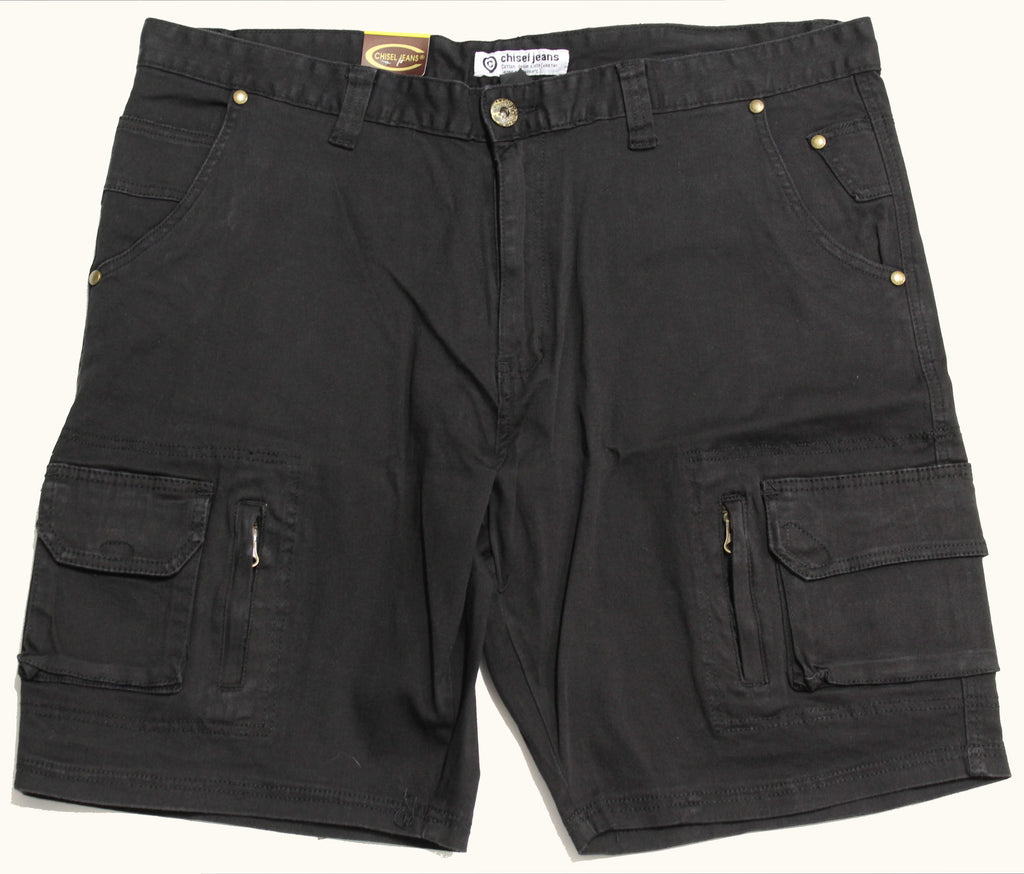 CHISEL JEANS CJ-2316-BS-S CARGO SHORT BLACK