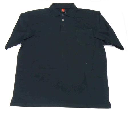 ELLUSION JKP02 POLO TOP BLACK