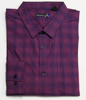 FREDERICK A FYH125 FASHION SHIRT WINE