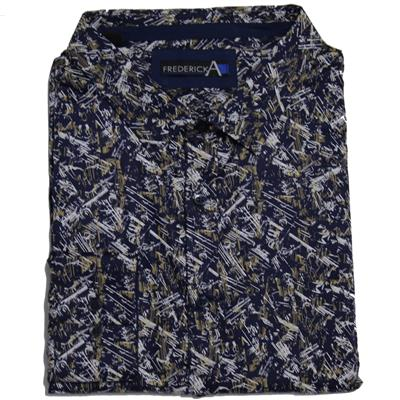 FREDERICK A 13663 CASUAL SHIRT NAVY