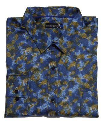 FREDERICK A 14833 CASUAL SHIRT BLUE