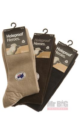 HOLEPROOF HEROES SOCKS S1001 OATMEAL 6-10