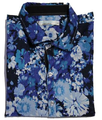 JIMMY STUART REMBRANDT FASHION SHIRT BLUE