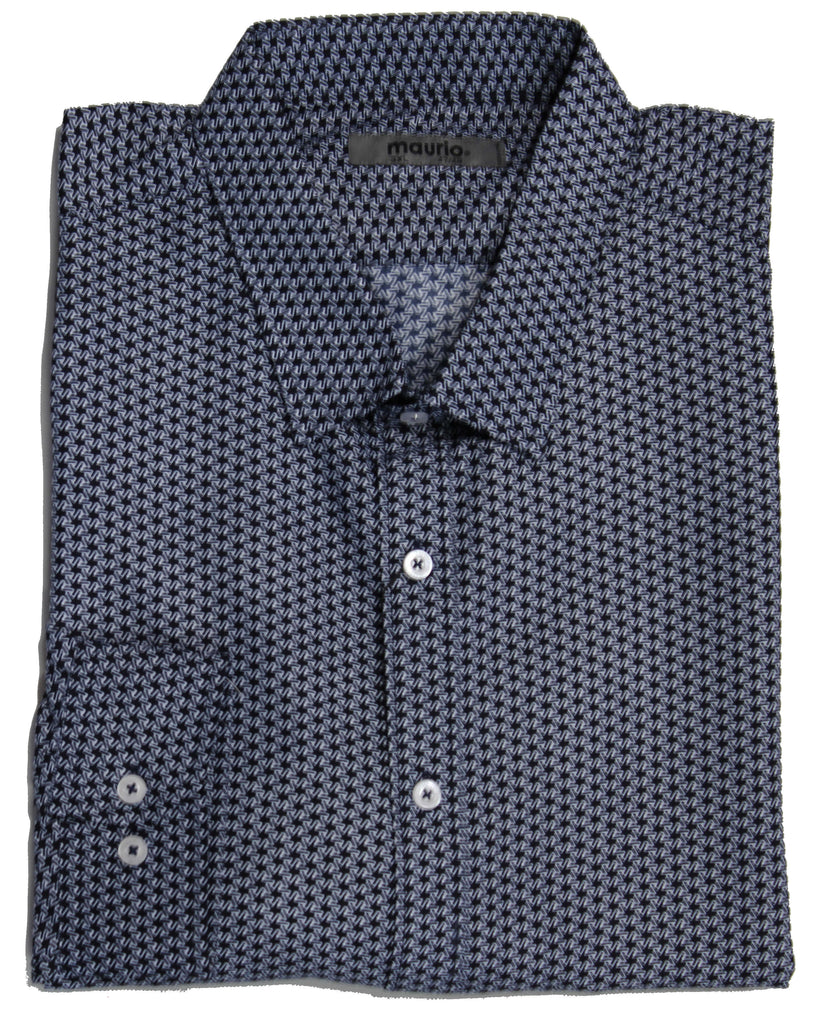 MAURIO 2399233 FASHION SHIRT NAVY
