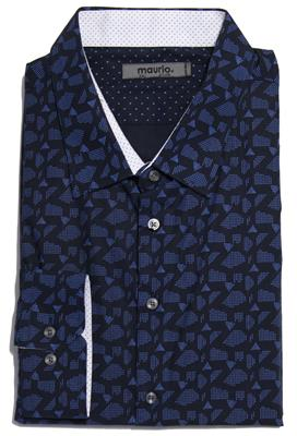 MAURIO 2957480 FASHION SHIRT NAVY
