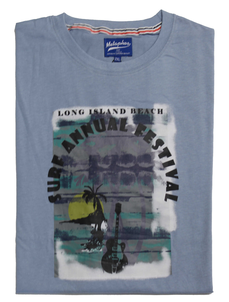 METAPHOR SURF FEST TEE LIGHT BLUE