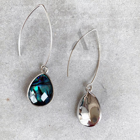 Jewellery AE Moon stone Teardrop silver toned drop earrings