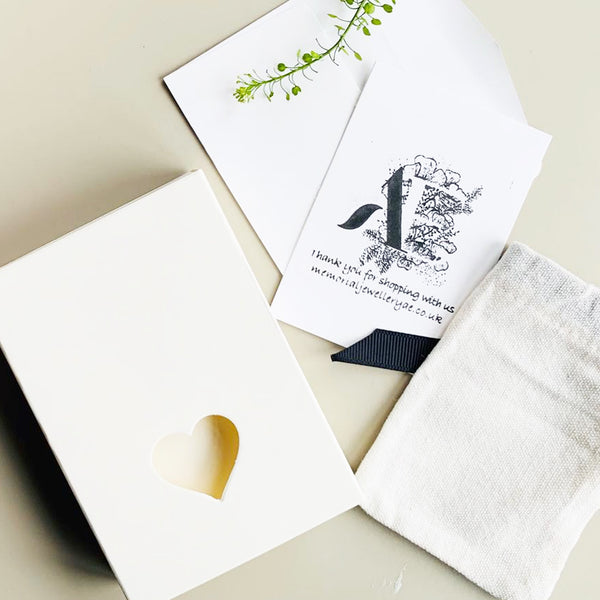 gift box, gift card and dust bag by jewelleryae.com