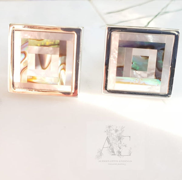 Pearl Shell Cufflinks