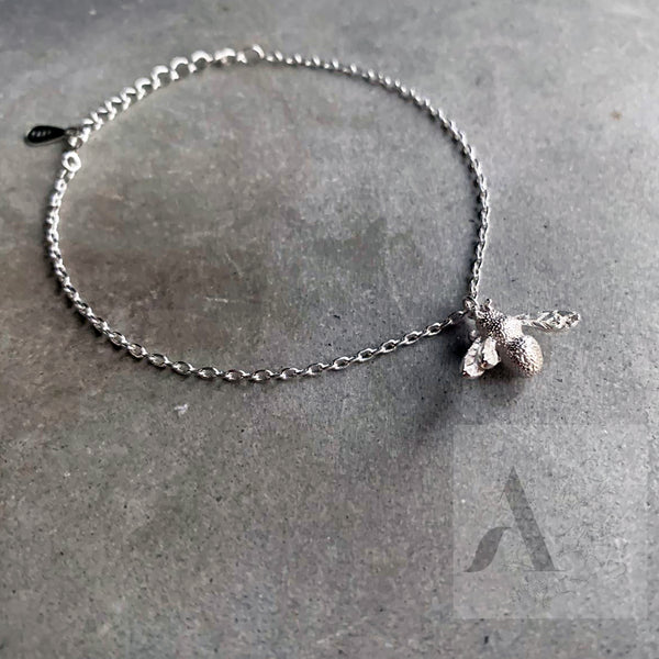 925 Sterling Silver Bumblebee Charm Bracelet