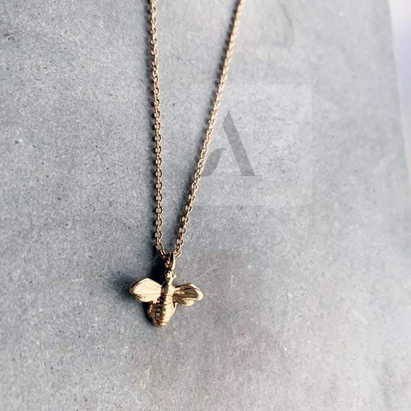 Gold Tone Bee Necklace