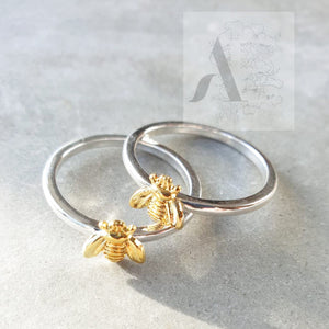 Two Tone Bumble Bee Ring