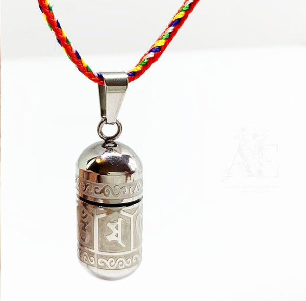 Stainless Steel Capsule Spiritual Cremation Necklace for ashes