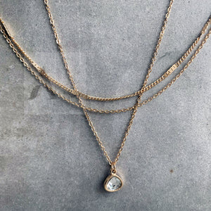 Clear Crystal Layered Necklace