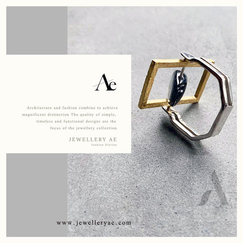 925 Sterling Silver Labradortie Square Frame Flip Ring