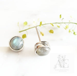 925 Sterling Silver Moon Stone Earrings