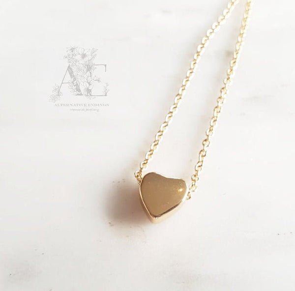 Gold Tone Small Heart Necklace