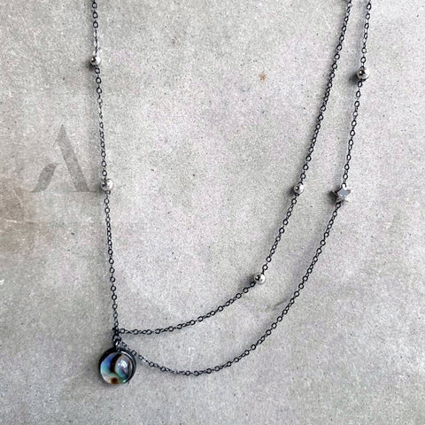 925 Sterling Silver Galaxy Necklace