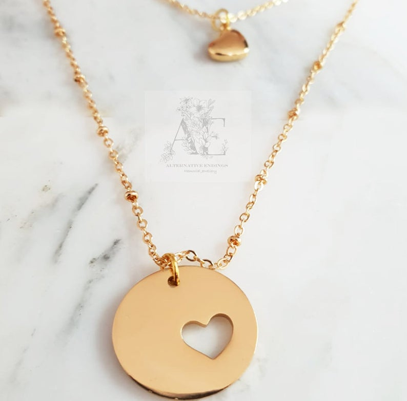 Gold Mother Daughter Necklace
