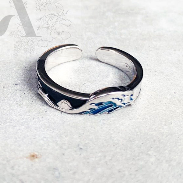 Great Wave Off Kanagawa Ring