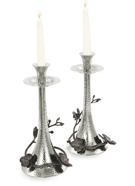 Michael Aram Black Orchid Candlesticks