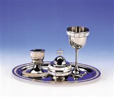 Mother-of-pearl And Nickel Havdala Set