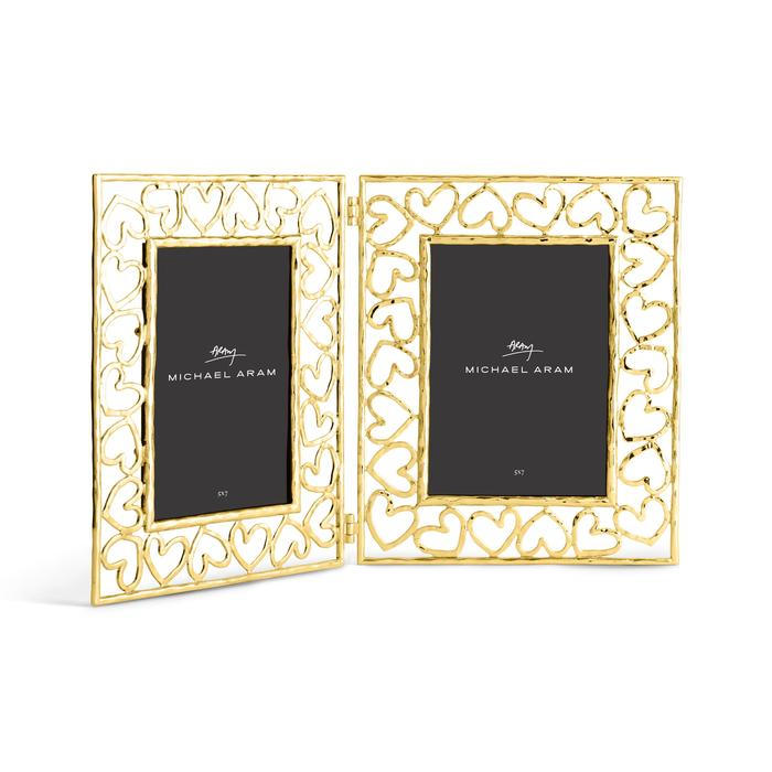 Michael Aram Gold Heart Hinged Frame 5x7