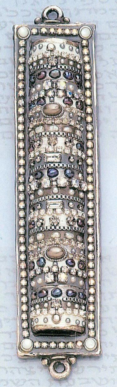 Hematite And Crystal Mezuzah
