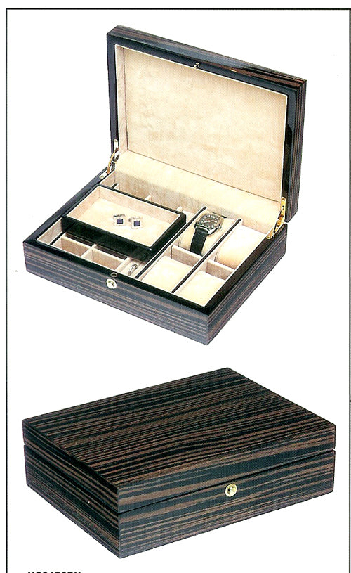 Lacquered Wooden Jewelry Box