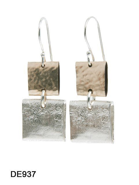 Dganit Hen Folded Square Atop Square Earrings