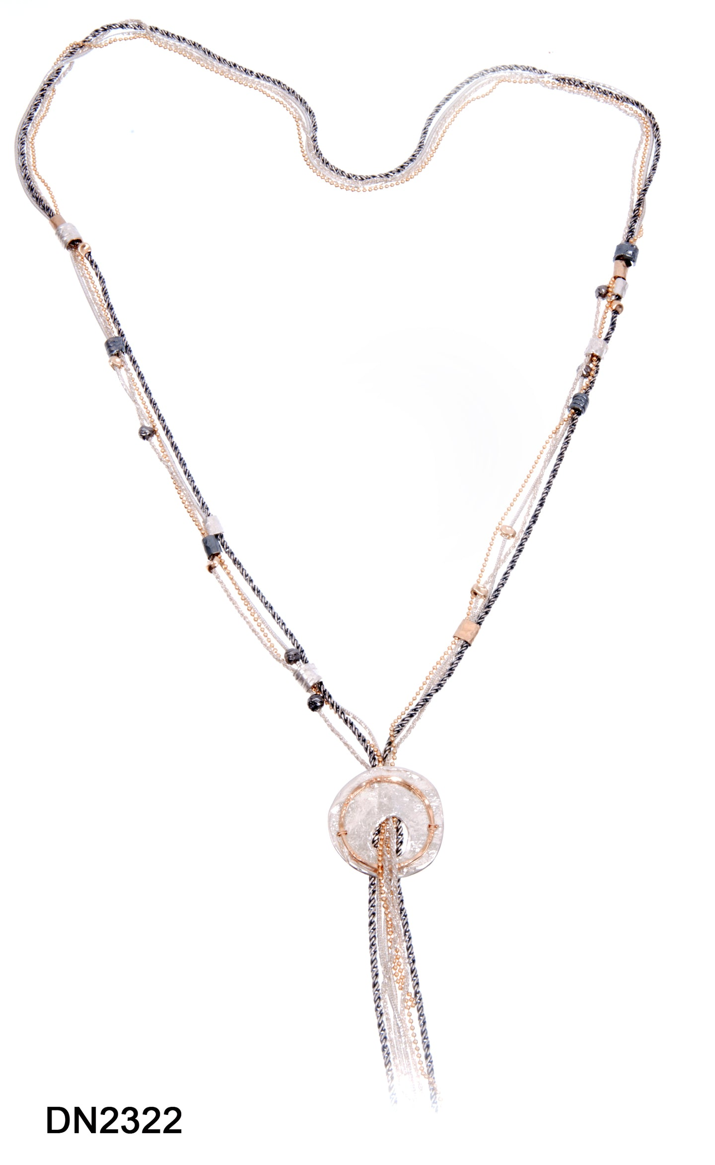 Long Tassel Necklace+ SS Disc