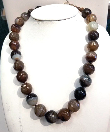 Faceted Brown Agate Necklace
