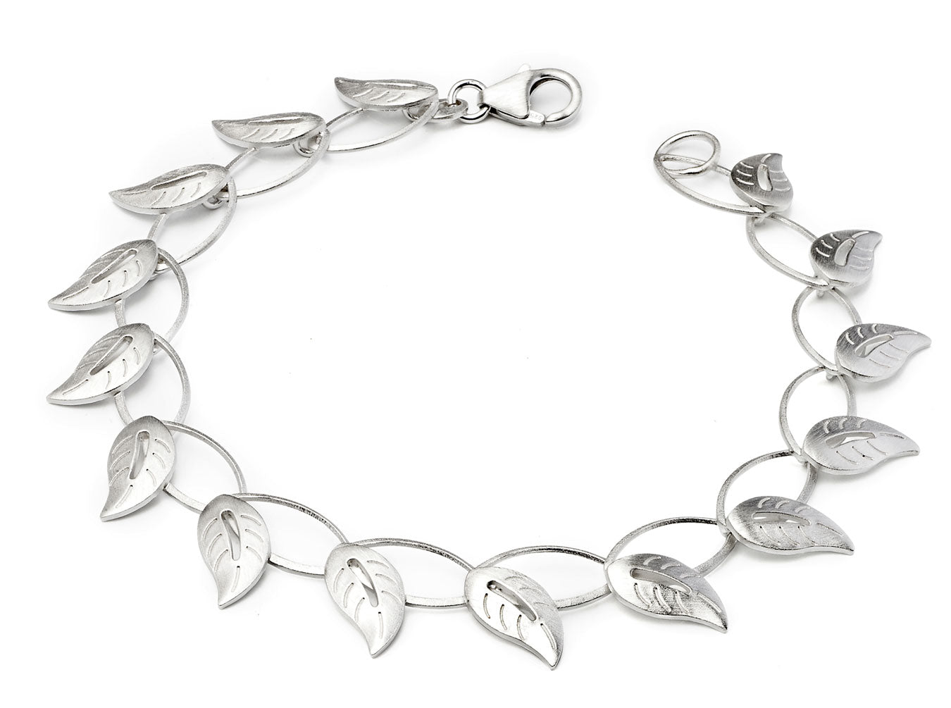 Sterling Silver Asian Ivy Bracelet