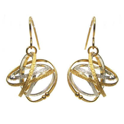 Mobius Mixed-Metal Drop Earrings