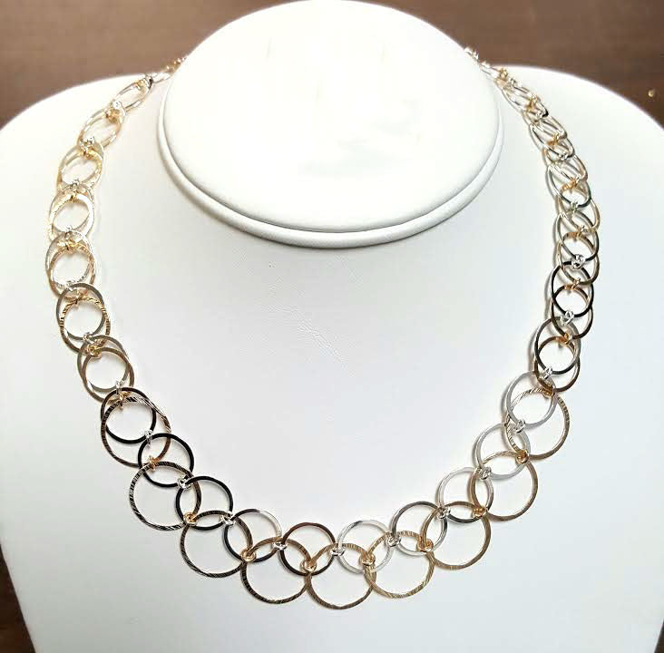 Overlapping Ring Necklace