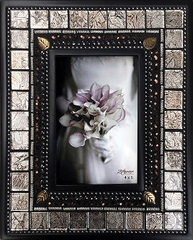 Mosaic Glass and Tile Frame - 4x6