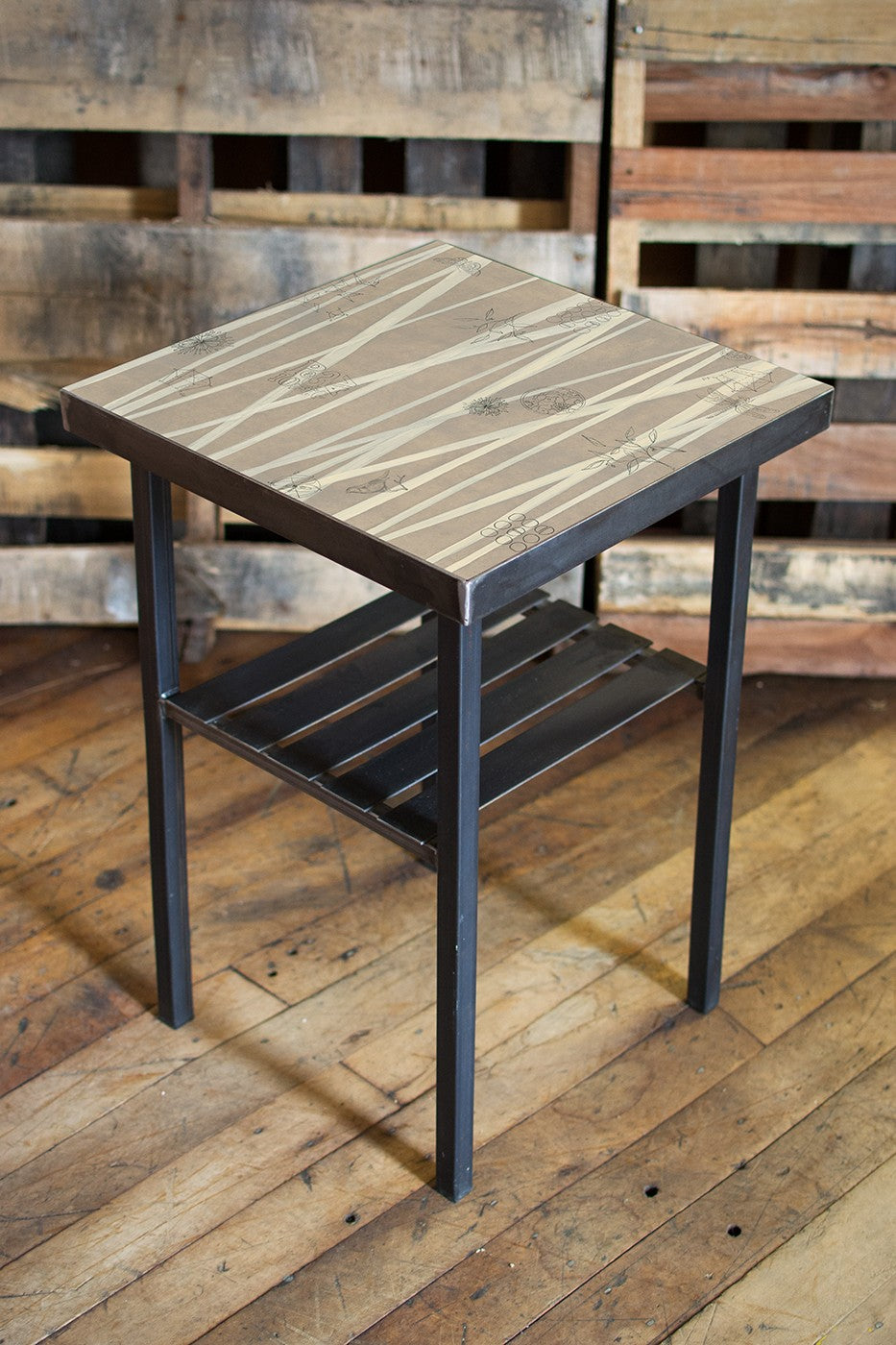Square Steel Side Table