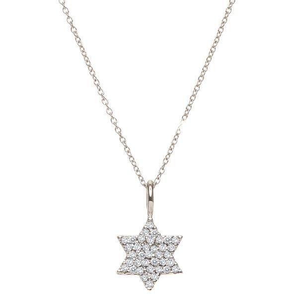 Pave Diamond Jewish Star