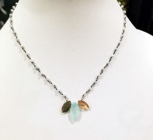 Marquis Katie Gemstone Necklace by Anna Balkan