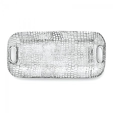 Beatriz Ball Croc Long Rectangular Tray With Handles